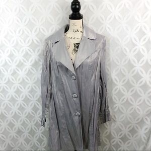 Lane Bryant Silver Trench Coat